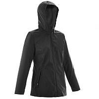 Куртка теплая женская от дождя  Quechua RAINWARM 50 черная