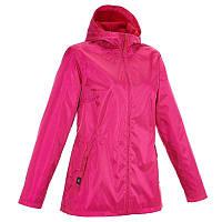 Куртка женская теплая от дождя утепленная Quechua RAINWARM 50 розовая