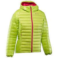 Куртка женская пуховая теплая Quechua X-LIGHT салатовая