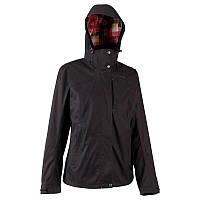 Куртка женская водонепроницаемая утепленная Quechua ARPENAZ 300 RAIN 3 IN 1 черная