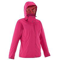 Куртка женская водонепроницаемая утепленная Quechua ARPENAZ 300 RAIN 3 IN 1 розовая