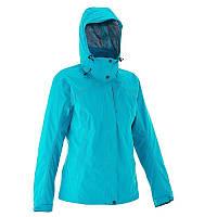 Куртка женская водонепроницаемая утепленная Quechua ARPENAZ 300 RAIN 3 IN 1 голубая