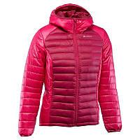 Куртка женская пуховая теплая Quechua X-LIGHT розовая