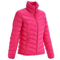 Куртка женская пуховая теплая Quechua FULLDOWN XWARM розовая