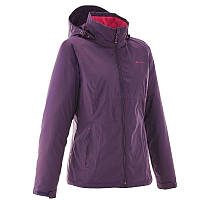 Куртка женская водонепроницаемая утепленная Quechua ARPENAZ 100 RAIN WARM фиолетовая