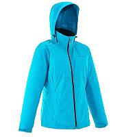 Куртка женская водонепроницаемая утепленная Quechua ARPENAZ 100 RAIN WARM голубая