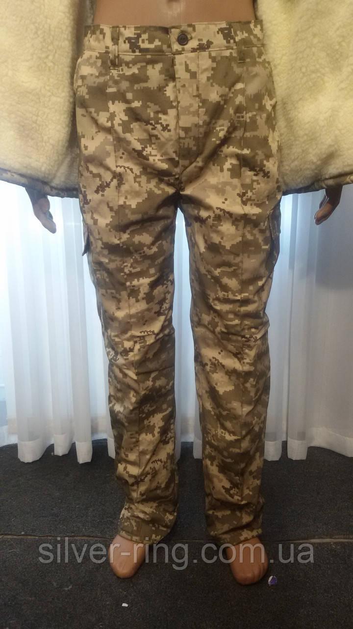 Военные брюки зимние Пиксель, на флисе. 56