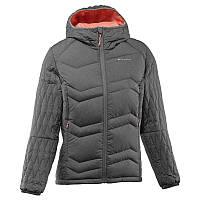 Куртка женская пуховая теплая Quechua X-LIGHT 3 темно-серая