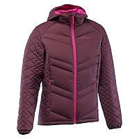 Куртка женская пуховая теплая Quechua X-LIGHT 3 бордовая