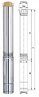 Насос центробежный 1.5кВт H 130(82)м Q 100(70)л/мин ?96мм  dongyin 777134