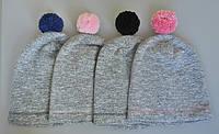 Модные шапочки с балабонами. Теплая зима или ранняя весна. , фото 1