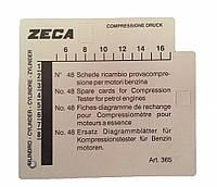 Набор карточек для пишущего компрессометра, бензиновых двигателей 365 - Zeca (Италия)