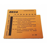 Набор карточек для пишущего компрессометра дизельных двигателей 366 - Zeca (Италия)
