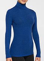Жіночий термогольф з вовною синій