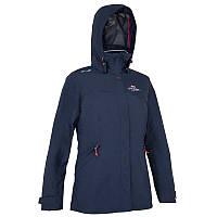 Куртка женская водонепроницаемая утепленная Tribord COASTAL 100 синяя