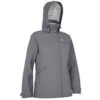 Куртка женская водонепроницаемая утепленная Tribord COASTAL 100 серая