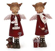 """Декоративная статуэтка """"Девочка-ангел"""" (12см, красная, 2 вида) 559-154"""