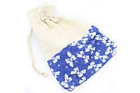 Подарочный мешочек 15 см х 21 см синий