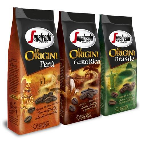 Подарочный набор кофе натуральный молотый Segafredo Le Origini 3 х 250 г.