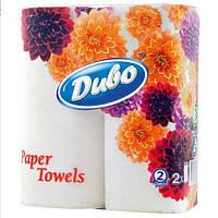 Бумажные полотенца Диво рулонный белые 2-слойные