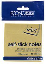 Блок бумаги для заметок с клейким слоем Economix 20932