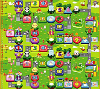 Развивающий коврик Babypol для детей 1800x2000 Маленькая страна/Веселый лабиринт