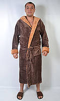 Чоловічий махровий халат довгий