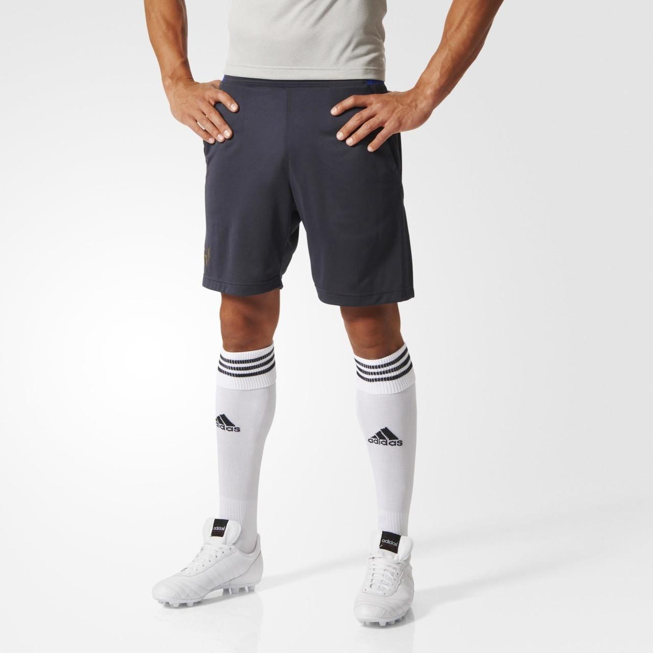 Шорты спортивные мужские adidas MEL TRG SHO AA0944 (темно-серые, полиэстер, для тренировок, логотип адидас)