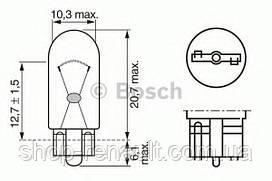Лампа розжарювання, фарная (12V 5W W5W) BOSCH
