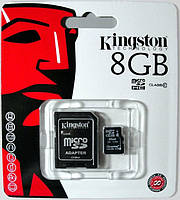 Карта памяти Kingston micro SDHC 8GB class 10+SD