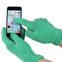 Перчатки iGlove для сенсорных экранов зеленые, фото 1