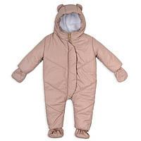 Детский зимний комбинезон бежевый 0-9 месяцев  Teddy