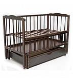 Детская кроватка Колисковий світ Малятко с ящиком на маятнике, фото 3