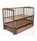 Детская кроватка Колисковий світ Малятко с ящиком на маятнике, фото 4