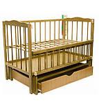 Детская кроватка Колисковий світ Малятко с ящиком на маятнике, фото 6