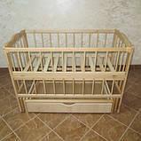Детская кроватка Колисковий світ Малятко с ящиком на маятнике, фото 7