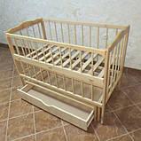 Детская кроватка Колисковий світ Малятко с ящиком на маятнике, фото 8