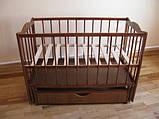 Детская кроватка Колисковий світ Малятко с ящиком на маятнике, фото 9