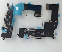 Шлейф для Apple iPhone SE,коннектора зарядки,коннектора наушников,с микрофоном,с компонентами Black