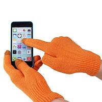 Перчатки iGlove для сенсорных экранов оранжевые