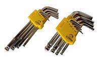 Сталь 48103 Набір Г-подібних ключів HEX (шароподобные подовжені)