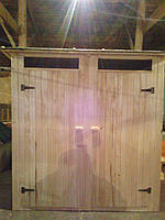 Туалетная кабина - душевая из шалевки двойная