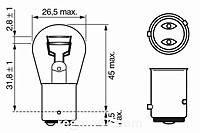 Лампа габаритного света и сигнала торможения BOSCH