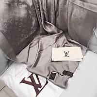 Палантин Louis Vuitton LV монограммы шерсть-шелк светло-серый
