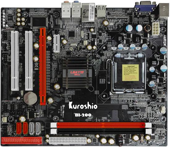 Материнская плата Kuroshio BI-200 (s775/Nforce 610i/2xDDR2) БУ