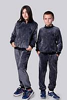Велюровый костюм плюшевый с эмблемой, девочка+мальчик