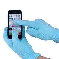 Перчатки iGlove для сенсорных экранов голубые