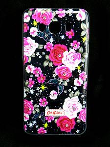 Чехол накладка для Samsung Galaxy J7 2016 J710 силиконовый Diamond Cath Kidston, Ночные розы