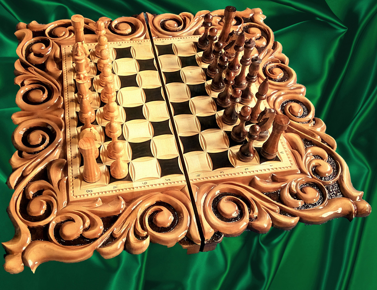 Шахматы-нарды подарочные 3 в 1