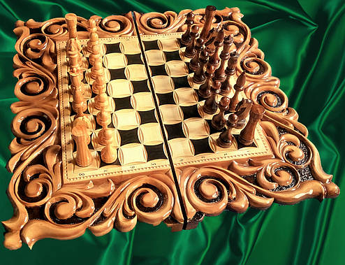 Шахматы-нарды подарочные 3 в 1, фото 2